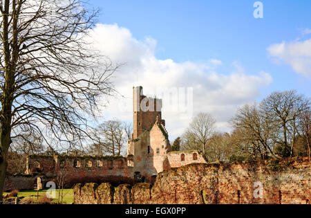 A view of Caister Castle at West Caister near Great Yarmouth, Norfolk, England, United Kingdom. - Stock Photo