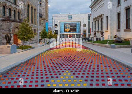Canada, Quebec, Montreal, the Museum of Fine Arts, le Jardin des sculptures avenue du Musee - Stock Photo