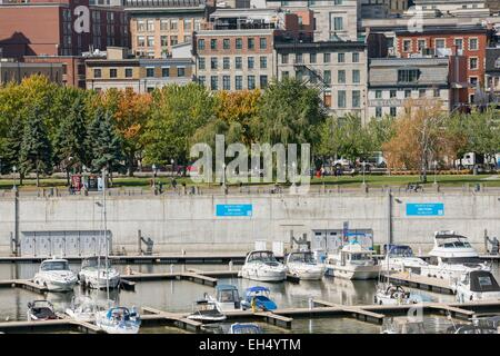 Canada, Quebec, Montreal, Old Montreal, the Old Port, docks, recreational promenade - Stock Photo