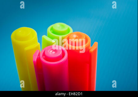 colorful felt tip markers - Stock Photo