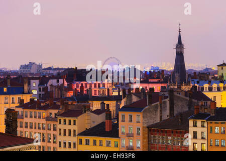 Europe, France, Rhone-Alpes, Lyon, city view - Stock Photo