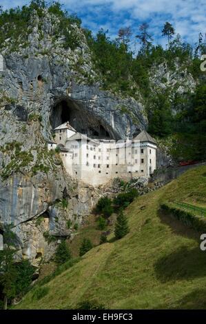 Predjama Castle, Predjamski Grad, Predjama, near Postojna, Slovenia - Stock Photo