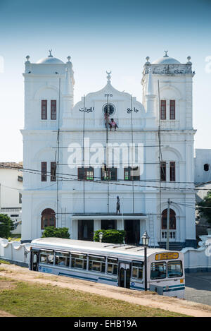 Meera mosque, Galle Fort, Sri Lanka, Asia - Stock Photo