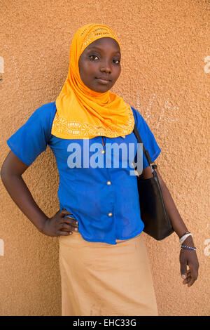 Members of the 'Our Future' children's club at the Secondary School, Tera, west Niger. - Stock Photo