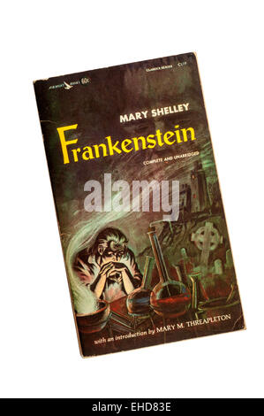 A copy of Frankenstein by Mary Shelley. - Stock Photo