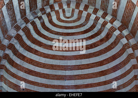 abbey church, Albugnano, Piedmont, Italy - Stock Photo