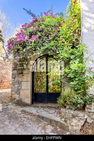 Garden gate in Datca, Mugla, Turkey - Stock Photo