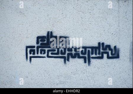 Grafitti Sprayer in Krakow Poland - Stock Photo
