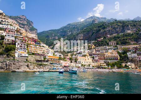 Positano, Amalfi Coast, Campania, Italy - Stock Photo
