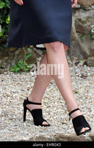 Rosamund Pike at the 'Gone Girl' photocall at Hotel De Russie  Featuring: Rosamund Pike Where: Rome, Italy When: - Stock Photo