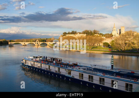 ILLUSTRATION OF THE CITY OF AVIGNON, VAUCLUSE (84), PACA, FRANCE - Stock Photo