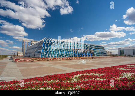 Administrative City, Astana, City, Kazakhstan, Central Asia, New, Palace, Summer, architecture, colourful, independence, - Stock Photo