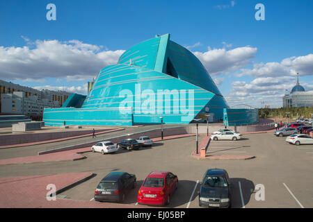 Administrative, Astana, Auditorium, building, City, Kazakhstan, Central Asia, Manfredi, New, State, Summer, architect, - Stock Photo