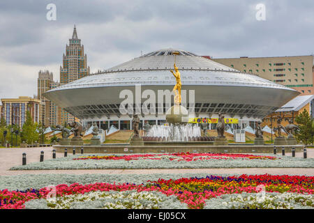 Astana, City, Circus, Kazakhstan, Central Asia, New, Summer, architecture, no people, touristic, travel - Stock Photo