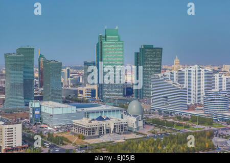 Administrative City, Astana, City, Kazakhstan, Central Asia, National Archive, New, Nurzhol, Summer, aerial, architecture, - Stock Photo