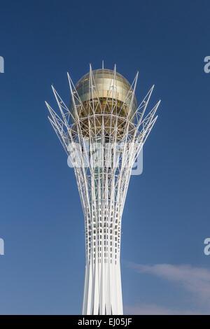 Astana, Bayterek, City, Kazakhstan, Central Asia, Monument, New City, Nurzhol, architecture, no people, touristic, - Stock Photo