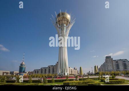 Astana, Avenue, Boulevard, City, Kazakhstan, Central Asia, Monument, New City, Nurzhol, architecture, colourful, - Stock Photo