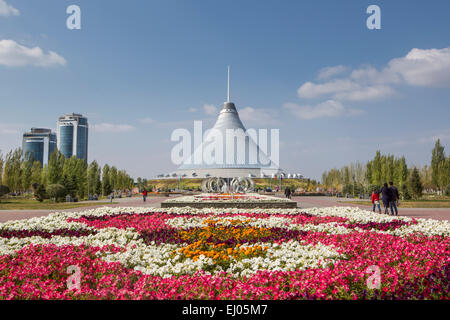 Astana, Boulevard, Center, City, Kazakhstan, Central Asia, Khan Shatir, New City, Nurzhol, architecture, canvas, - Stock Photo