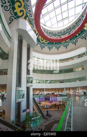 Airport, Astana, City, International, Kazakhstan, Central Asia, architecture, ceiling, department store, shopping - Stock Photo