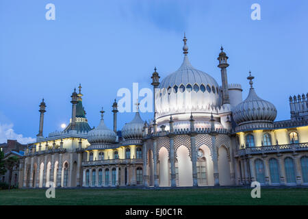 England, East Sussex, Brighton, Brighton Pavilion - Stock Photo