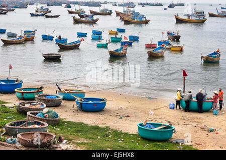 Mui Ne Fishing Harbor. Binh Thuan Province, Vietnam. - Stock Photo