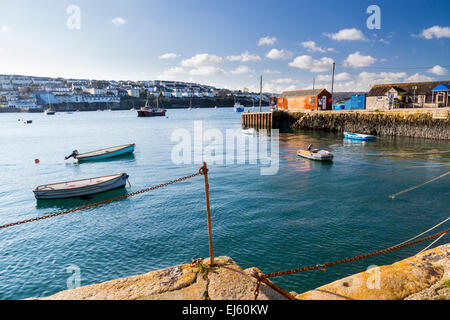 The coastal village of Flushing on the Penryn River, Part of the Carrick Roads Cornwall England UK Europe - Stock Photo