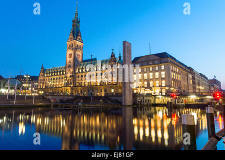 Hamburgs beautiful townhall - Stock Photo