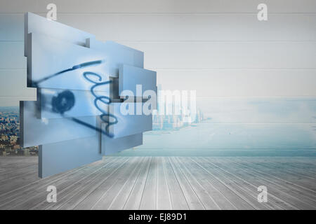 Composite image of idea on abstract screen - Stock Photo