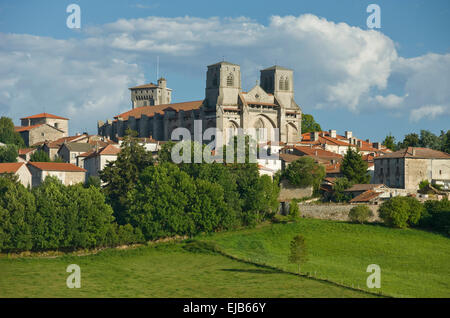 BENEDICTINE ABBEY CHURCH OF SAINT ROBERT LA CHAISE DIEU HAUTE LOIRE AUVERGNE FRANCE - Stock Photo