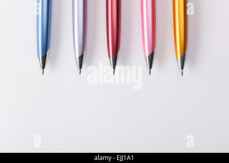 Ballpoint pens on table - Stock Photo