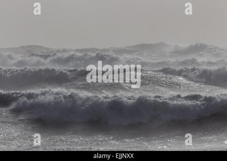 wave surge in Iceland, North Atlantic Ocean - Stock Photo