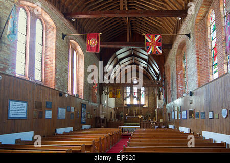 Interior Christ Church  Cathedral Stanley Falkland Islands - Stock Photo