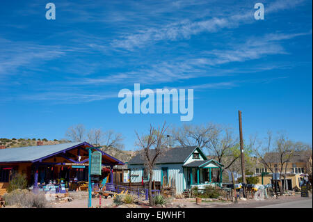 USA New Mexico NM Madrid on the Turquoise Trail an old coal mining town now an art community - Stock Photo