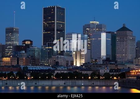 City view at the Old Port, Montreal, Quebec, Canada - Stock Photo