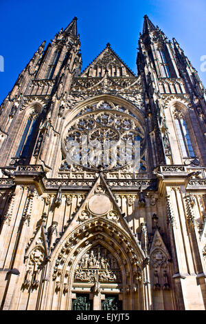 St.Vitus cathedral in Prague - Stock Photo