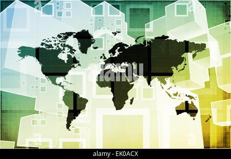 Emerging Market and International Global Businesses Art - Stock Photo