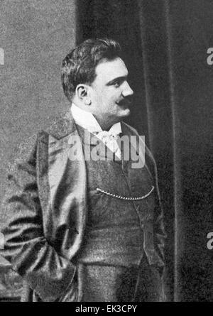 Italian singer tenor Enrico Caruso 1873-1921. Reproduction. - Stock Photo