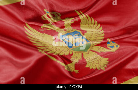High resolution render of Montenegro's national flag. - Stock Photo