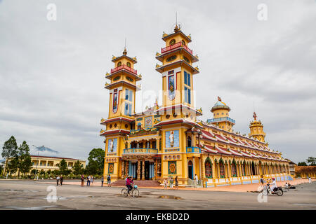Cao Dai temple, Tay Ninh, Vietnam, Indochina, Southeast Asia, Asia - Stock Photo