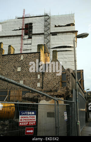 Provost Skene's house and Aberdeen City Council building under demolition - Aberdeen city - Scotland - UK - Stock Photo