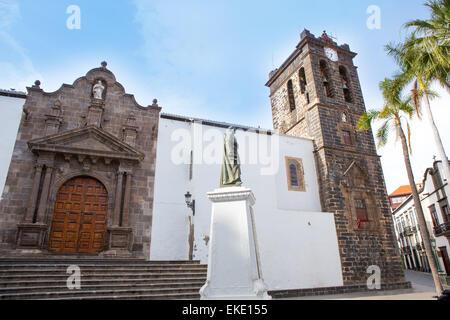 Santa Cruz de La Palma Plaza de Espana Iglesia - Stock Photo