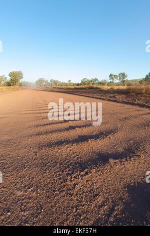 Corrugation on the Gibb River Road, Kimberley, Outback, Western Australia, WA, Australia - Stock Photo