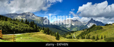view of the mount of Alta Badia  - Italy - Stock Photo