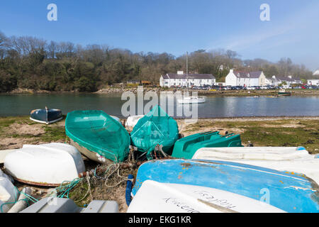 Red Wharf Bay on the Isle of Anglesey North Wales - Stock Photo