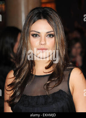 22.OCTOBER.2010. LONDON  MILA KUNIS ATTENDS THE GALA SCREENING OF NEW FILM BLACK SWAN AT THE VUE CINEMA, LEICESTER - Stock Photo