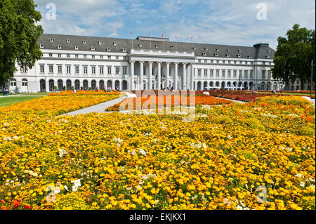 Horticultural show National Garden Festival BUGA 2011 in Koblenz Electoral Castle rhineland-palatinate germany europe - Stock Photo