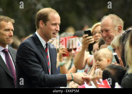 Prince William visits the War Memorial Park in Coventry for a Fields in Trust memorial event, Coventry, UK - July - Stock Photo