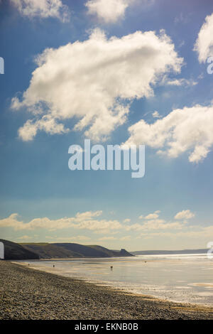 Newgale Beach in Pembrokeshire, West Wales - Stock Photo