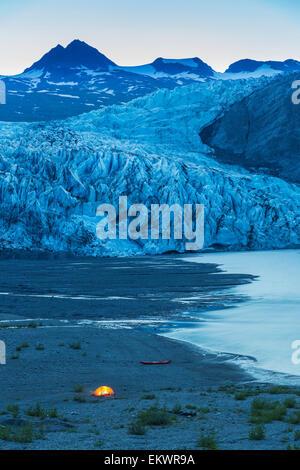 Kayak,Glacier,Alaska,Vacations - Stock Photo