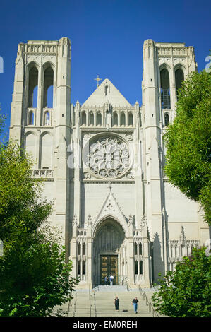 Grace Cathedral; San Francisco California United States Of America - Stock Photo